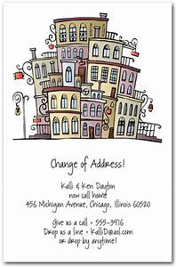 moving uptown change of address card With change of address business cards