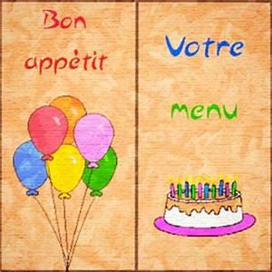 Modele De Menu A Imprimer Gratuit : carte menu anniversaire ~ Melissatoandfro.com Idées de Décoration