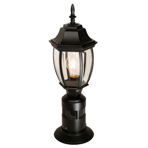 heath zenith 1 light 7 quot outdoor post lantern with motion