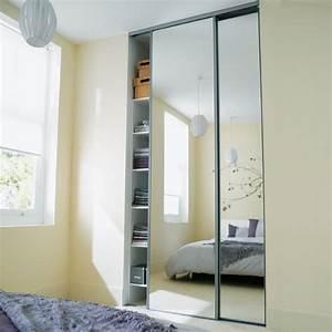 porte placard coulissante miroir With porte coulissante miroir recoupable
