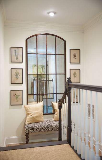 small stairs landing decor entry ways  ideas