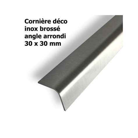 corni 232 re inox bross 233 30x30x1 5 mm longueur 2 m