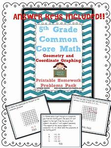 5th Grade Math Review Or Homework Problems Geometry Test