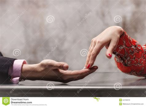 Love couple hands stock image. Image of close, touching