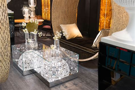 Glass Side Table With Built-in Led Lamp