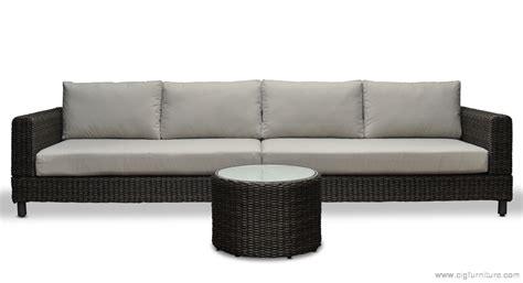 wicker outdoor modular corner sofa chaise patio lounge