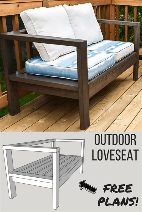 loveseat plans diy outdoor loveseat and sofa the handyman s