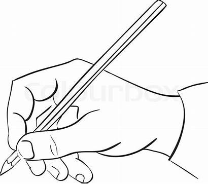 Hand Pencil Vector Illustration Holds Clip Clipart