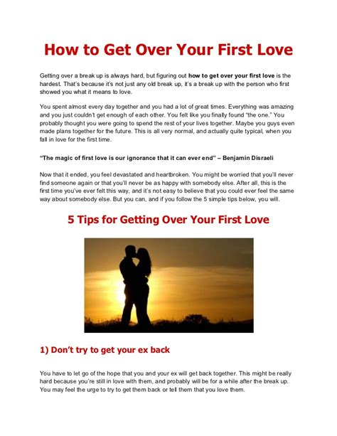 How To Get Over Your First Love  5 Tips For Getting Over Your First