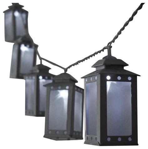 mini lantern string light white warm white outdoor