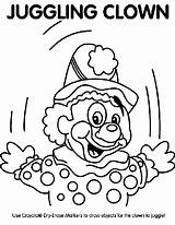 Clown Coloring Juggling Pages Crayola Juggle sketch template