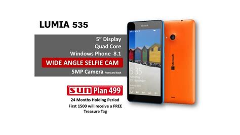 microsoft lumia 535 is now available at sun plan 499