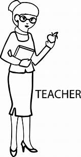 Teacher Coloring English Woman Apple Pages Wecoloringpage sketch template