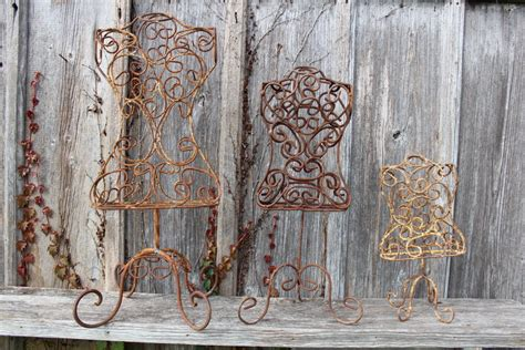 wrought iron dress form clothing mannequin home decor