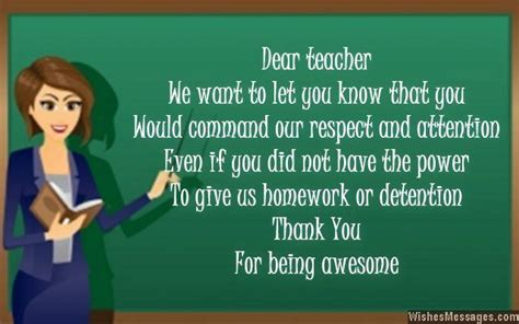 Thank You Notes For Teacher Messages And Quotes  Wishesmessagescom  Frases Y Pensamientos
