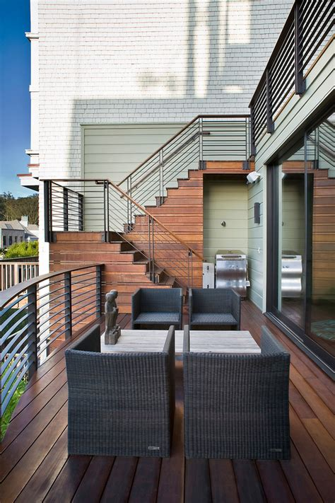 Outdoor Stair Railing Ideas Staircase Contemporary With