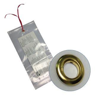 mil reclosable bags  grommet reinforced bottom hang hole insert size