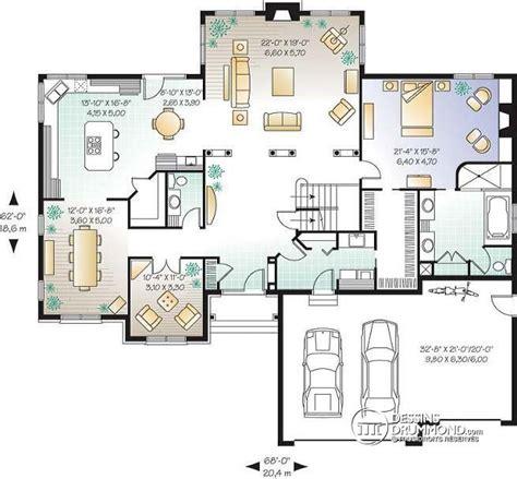 ranch house plans with 2 master suites w2661 plan maison américaine 3 à 5 chambre 2 grands