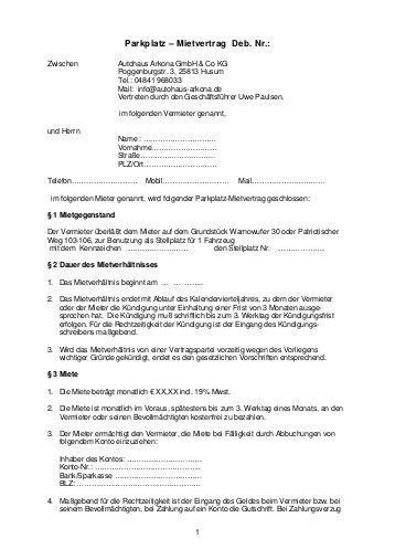 kündigung mietvertrag schriftlich k 252 ndigung stellplatz