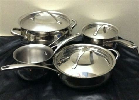 revere  piece copper core confidence stainless steel cookware set  sale  ebay