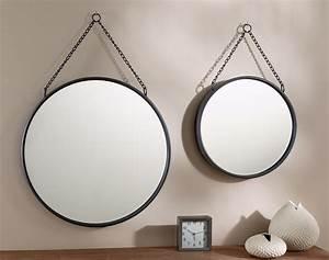 Miroir Rond à Suspendre : miroir rond en m tal becquet ~ Teatrodelosmanantiales.com Idées de Décoration