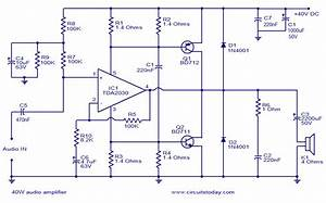 40w Audio Amplifier Circuit Diagram World