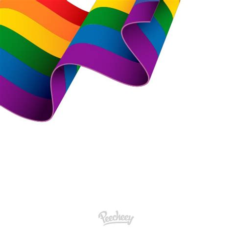 Lgbt Background Waving Lgbt Flag On White Background Free Vector Peecheey