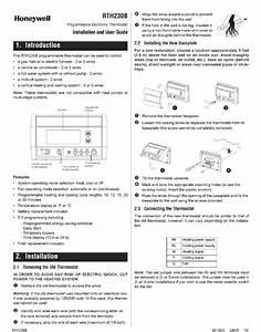 Honeywell Rth230b Installation And User Manual