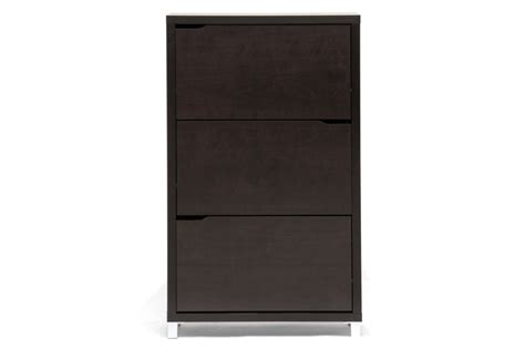 simms modern shoe cabinet in brown baxton studio simms brown modern shoe cabinet