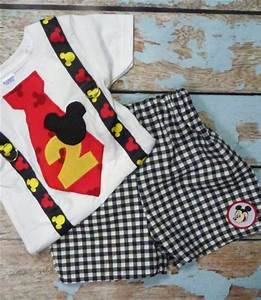 Boys First Birthday Mickey Mouse Outfit Shorts 1st 2nd Birthday | Gidgets - Clothing on ArtFire