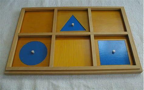 Geometric Cabinet making montessori work montessori sensorial materials