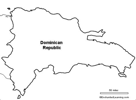 blank map dominican republic
