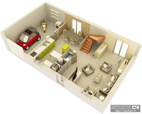 plan de maison gratuit 4 chambres maisons top duo plans 3d éclatés