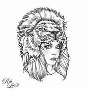 lion headdress ...