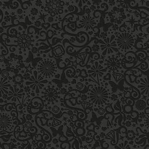 Graham & Brown Black Floral Star Butterfly Pattern ...