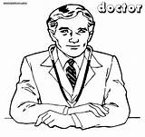 Doctor Coloring Pages Colorings Coloringway sketch template