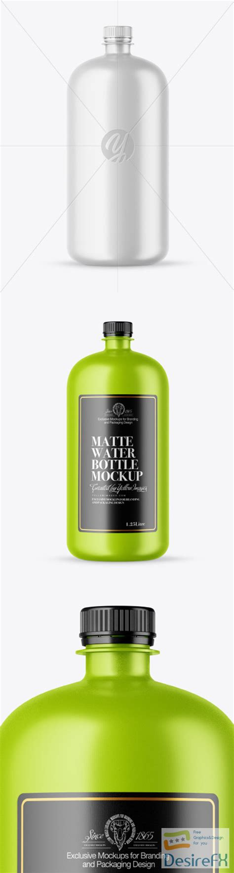 This mockup is available for purchase on yellow images only. Desirefx.com | Download Matte Water Bottle Mockup 51987 TIF
