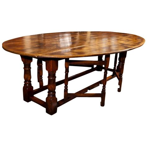 drop leaf oval dining table large drop leaf gate leg dining table at 1stdibs
