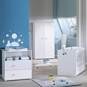 Meuble Chambre Bébé : chambre b b trio nino lit commode armoire de sauthon meubles sur allob b ~ Teatrodelosmanantiales.com Idées de Décoration