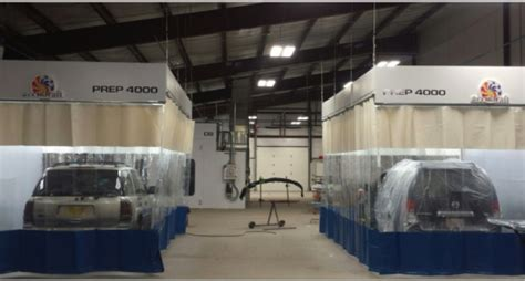 how to create a spray paint booth with curtain walls
