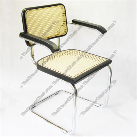 breuer arm chair in chrome with seat and back cesca