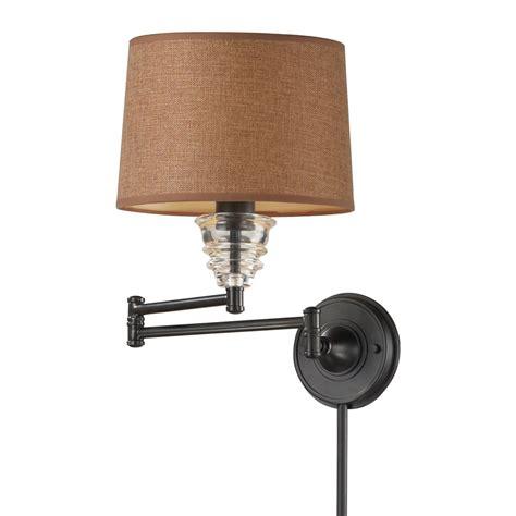 shop westmore lighting 15 in h bronze swing arm wall