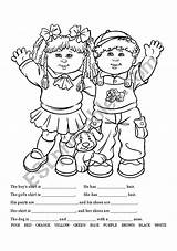 Coloring Clothing Writing Worksheet Clothes Esl Worksheets Vocabulary Much sketch template