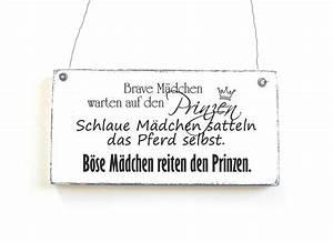 Vintage Schilder Mit Sprüchen : b se m dchen schild dekoschild shabby vintage von d rpkind auf spr che lustige ~ A.2002-acura-tl-radio.info Haus und Dekorationen