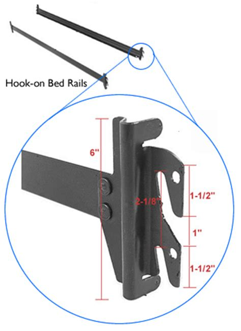 queenking bed rail frame  legs bed rails