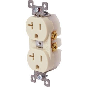 commercial grade ivory 20a 120v outlet hd supply