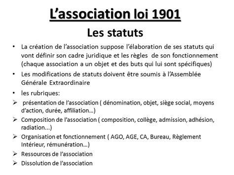 l association loi 1901 les statuts ppt