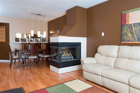 Living And Dining by 3 Sided Fireplace Best Prep For Winter Homesfeed