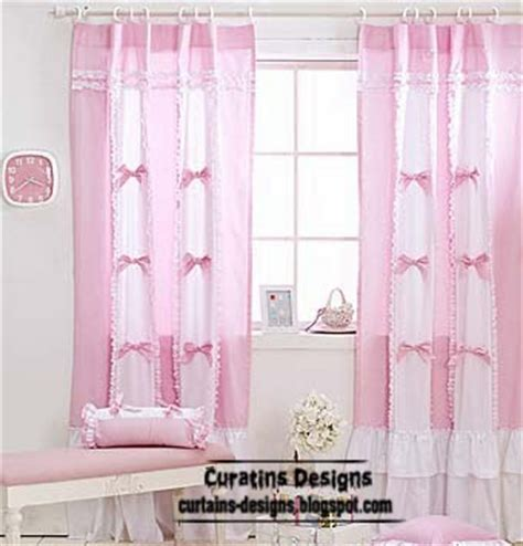 unique curtains in white and pink tones for