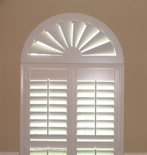 blindscom custom size wood arch traditional window